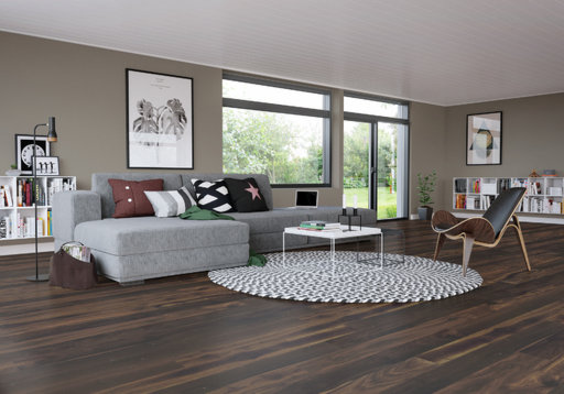 Junckers Black Oak Solid Wood Flooring, Oiled, Variation, 140x20.5 mm