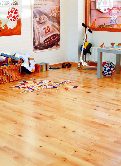 Junckers Beech Solid 2-Strip Wood Flooring, Oiled, Variation, 129x14 mm