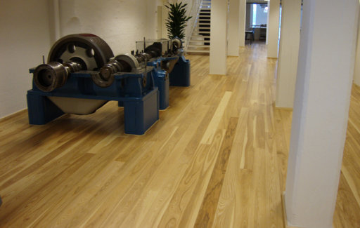 Junckers Dark Ash Solid Wood Flooring, Ultra Matt Lacquered, Classic, 140x20.5 mm