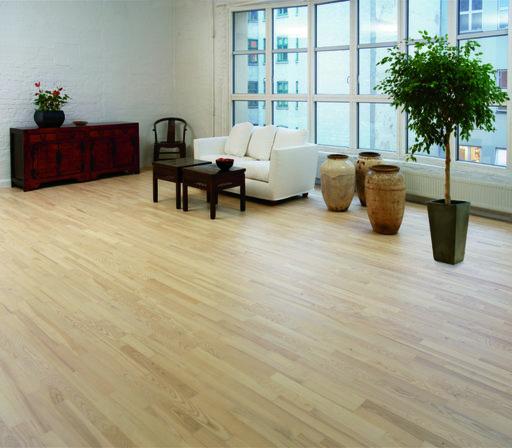 Junckers Nordic Light Ash 2 Strip Solid Wood Flooring Ultra Matt