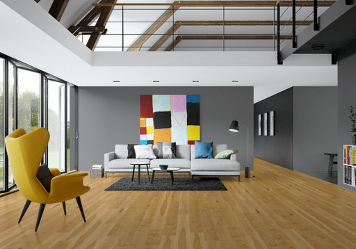 Junckers Solid Oak Wood Flooring, Ultra Matt Lacquered, Variation, 140x20.5 mm