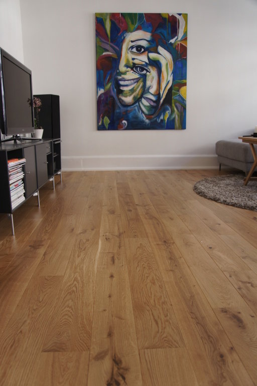 Junckers Solid Oak Wood Flooring, Silk Matt Lacquered, Variation, 140x20.5 mm