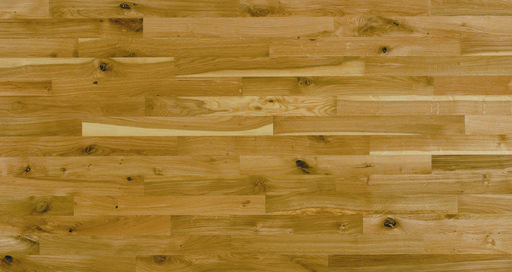 Junckers Solid Oak 2-Strip Flooring, Silk Matt Lacquered, Variation, 129x22 mm