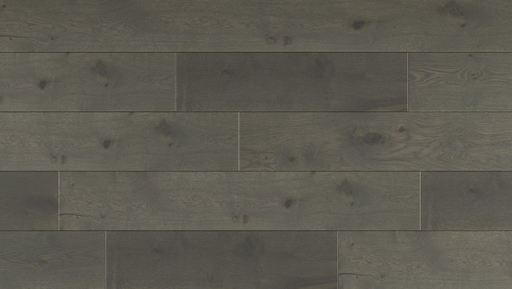 Kersaint Cobb Duo-Living Engineered Oak Flooring, Mole Grey, Brushed, Oiled, 189x3x14 mm