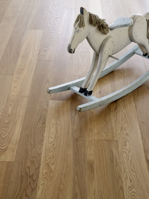 Kersaint Cobb Engineered Natural Oak Flooring, Rustic, Lacquered, 189x3x14 mm