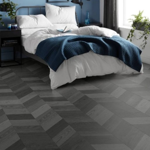 Lifestyle Camden Herringbone Grey Laminate Flooring, 8 mm