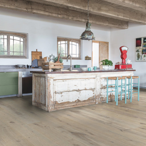 QuickStep Massimo Winter Storm Oak Engineered Flooring, Oiled, 260x2.5x14 mm