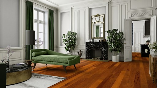 Boen Merbau Engineered Flooring, Satin Lacquered, 138x3.5x14 mm