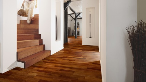 Boen Merbau Engineered 3-Strip Flooring, Protect Ultra, 215x3x14 mm
