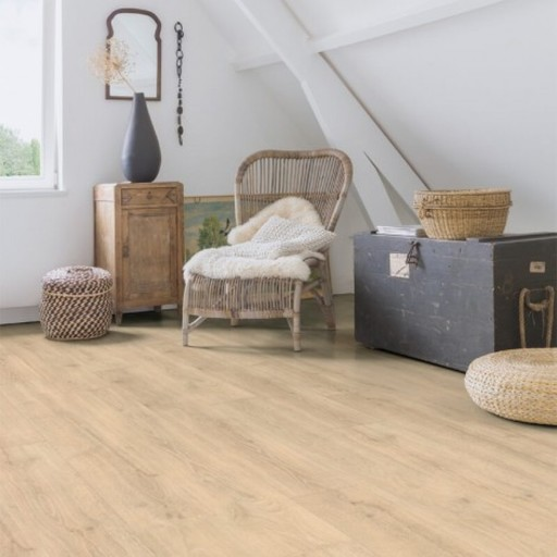 QuickStep Majestic Woodland Oak Beige Laminate Flooring, 9.5 mm