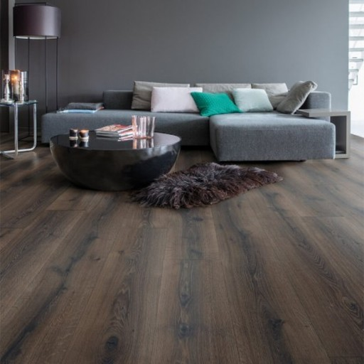 QuickStep Majestic Desert Oak Brushed Dark Brown Laminate Flooring, 9.5 mm