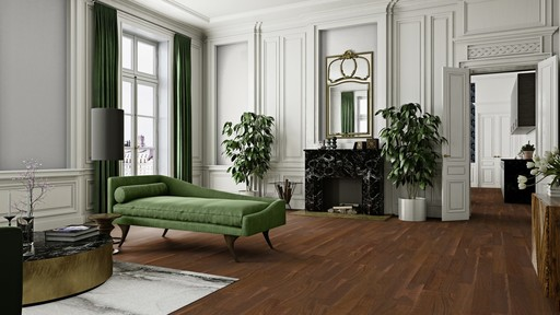 Boen Andante Walnut American Engineered Flooring, Satin Lacquered, 138x3.5x14 mm