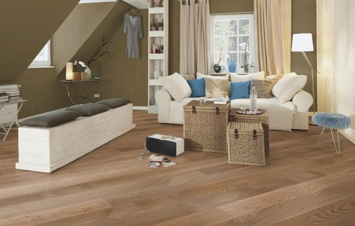 Boen Barrel Oak Engineered Flooring, Brushed, Oiled, 209x3.5x14 Mm