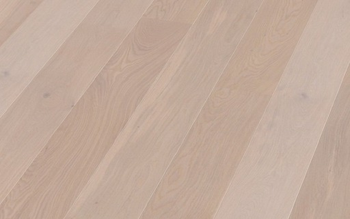 Boen Pearl Oak Engineered Flooring, White Stained, Unbrushed, Oiled, 209x3.5x14 mm