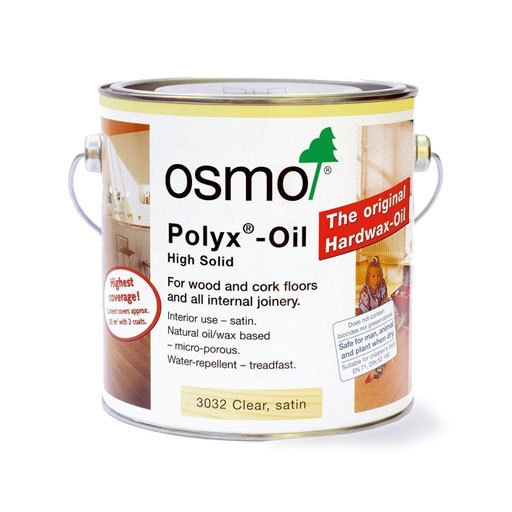 Osmo Polyx-Oil Hardwax-Oil, Original, Satin Finish, 0.75L