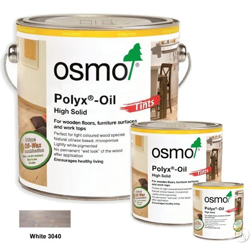 Osmo Polyx-Oil Hardwax-Oil, Tints, White, 2.5L