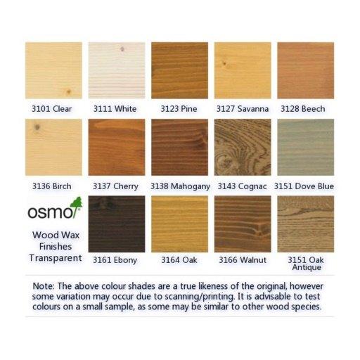 Osmo Wood Wax Finish Transparent Silk Grey 2 5 L Osmo