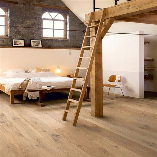 QuickStep Palazzo Country Raw Oak Engineered Flooring, Matt Lacquered, 1820x190x14 mm