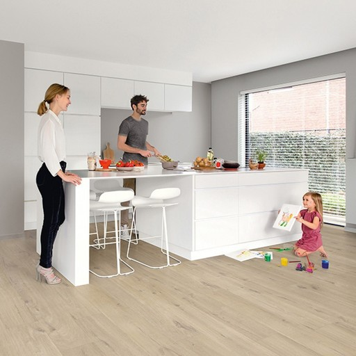 QuickStep Livyn Pulse Click Cotton Oak Beige Vinyl Flooring ...