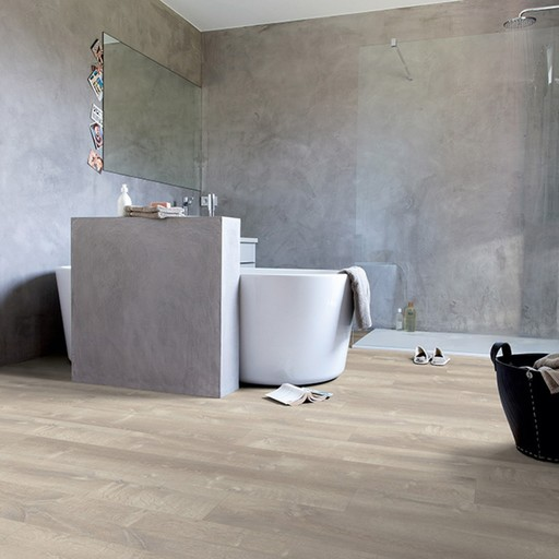 QuickStep Livyn Pulse Click Sand Storm Oak Warm Grey Vinyl Flooring