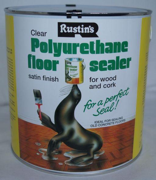 Rustins Polyurethane Floor Sealer, Satin, 5L