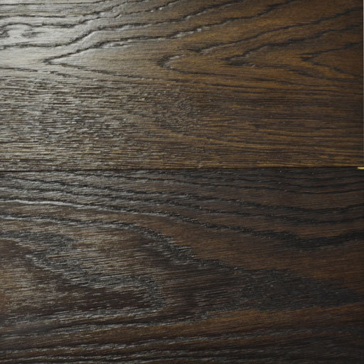 Tradition Coffee Stained Oak Engineered Flooring, Rustic, Brushed, Lacquered, 150x5x18 mm