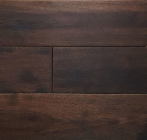 Xylo Black Stained Hickory Engineered Flooring, Rustic, Brushed, Handscraped, UV Lacquered, 14x2x150 mm