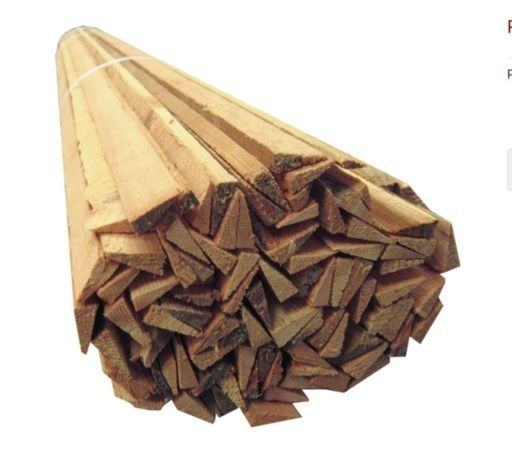 Reclaimed Pine Wood Slivers Strips, 50 pcs, 4-6 mm