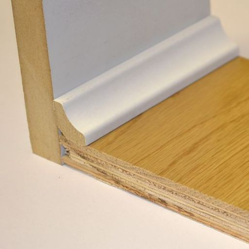 Hdf White Scotia Beading For Laminate Floors 18x18 Mm 2