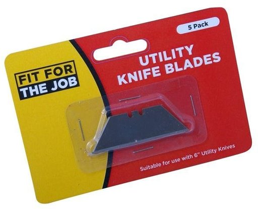 Utility Knife Blades, 5 pcs