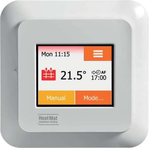 NGTouch Thermostat, White, Chrome