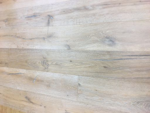 Tradition Antique Engineered Oak Flooring, Distressed, Brushed, Smoked White Oiled, 2200x15/4x220 mm