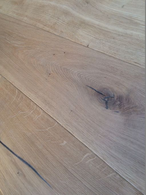 Tradition Antique Engineered Oak Flooring, Rustic, Distressed, Brushed, Unfinished, 220x6x20 mm