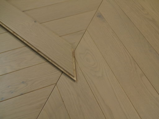 Tradition Engineered Oak Parquet Flooring, Grey, Matt Lacquered 750x15/4x90 mm