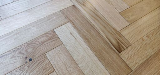 Tradition Engineered Oak Parquet Flooring, Herringbone, Lacquered, 90x14x450 mm