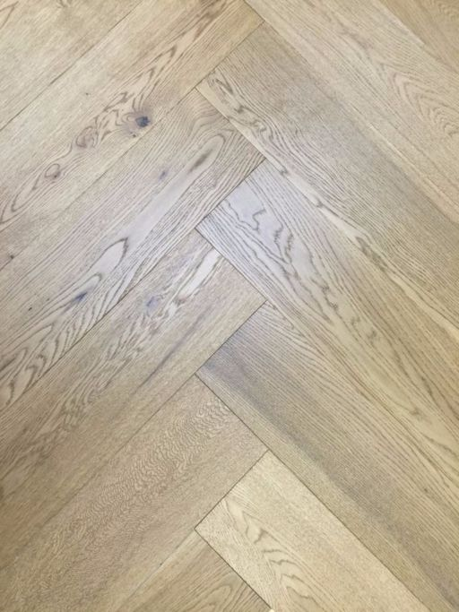 Tradition Engineered Oak Parquet Flooring, Herringbone, Smoked Stain, Brushed & UV Oiled, 150x14x600x mm