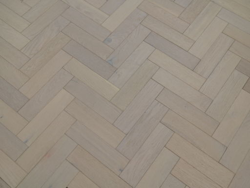 Tradition Engineered Oak Parquet Flooring, White Brushed, Matt Lacquered, 80x3x18 mm