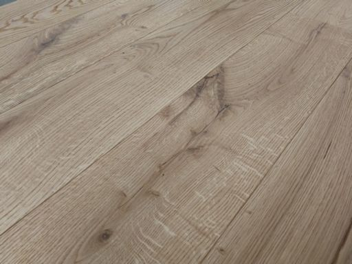 Tradition Engineered Raw Oak Flooring, Rustic, Brushed, Oiled, 190x14x1900 mm