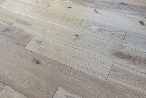 Tradition Solid Oak Flooring, Natural, Brushed, Oiled, 150x18xRL mm