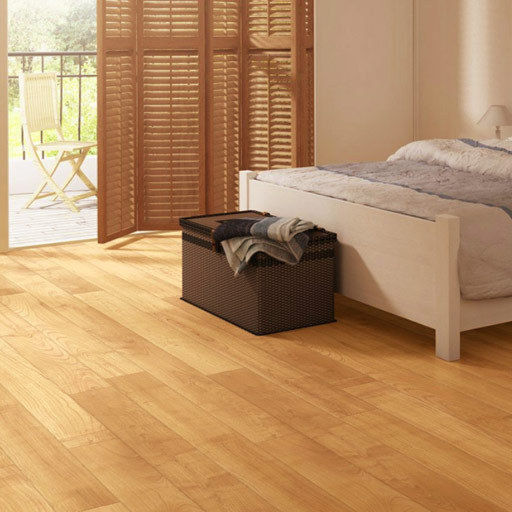 Quickstep Perspective Natural Varnished Cherry Planks 4v Groove