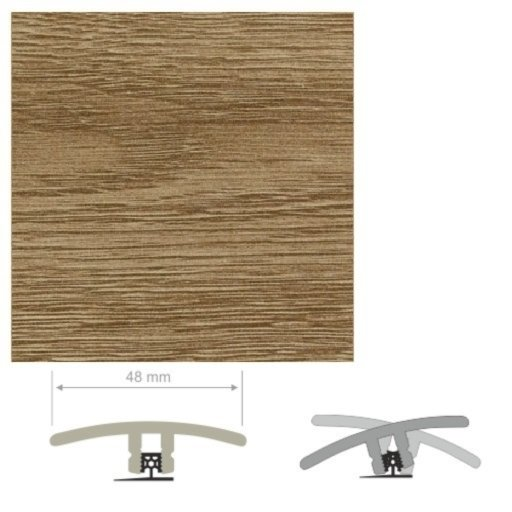 HDF Unistar Dark Oak Threshold For Laminate Floors, 90 cm