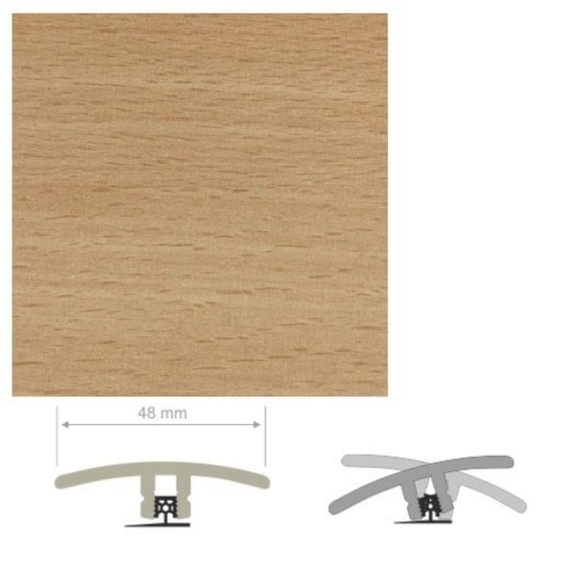 HDF Unistar Enhanced Beech Threshold For Laminate Floors, 90 cm