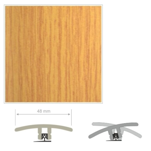 HDF Oak Threshold For Laminate Floors, 90 cm