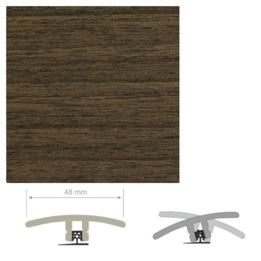 HDF Unistar Dark Walnut Threshold For Laminate Floors, 90 cm