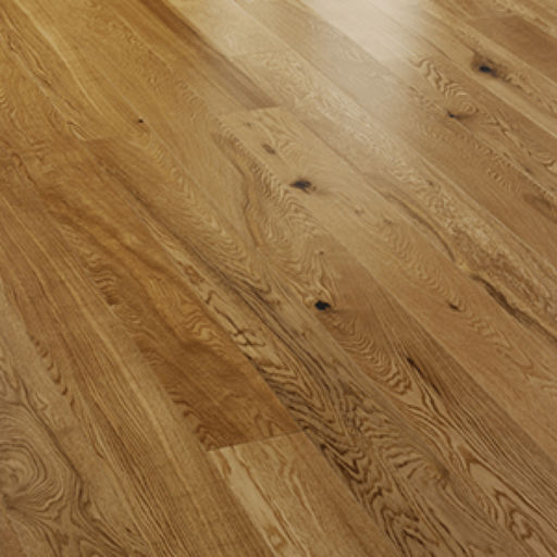 V4 Engineered Oak 3-strip Flooring, Rustic, Satin Lacquered, 207x14x2200 mm