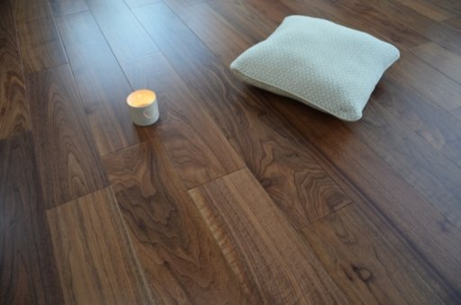 Tradition Engineered American Walnut Flooring, Rustic, Lacquered, 150x3x14 mm