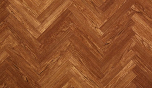 Xylo Wentworth Teak Brown Herringbone Laminate Flooring, 84x8x504 mm