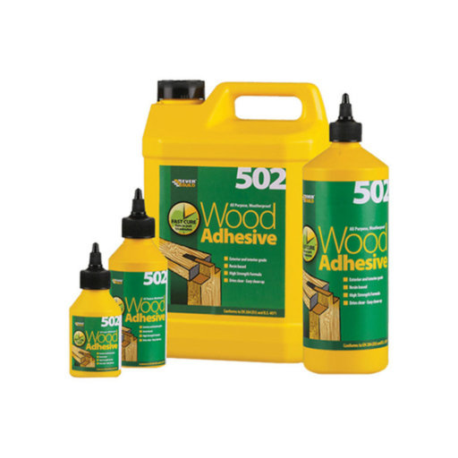 Everbuild 502 All Purpose Weatherproof Wood Adhesive, 500 ml
