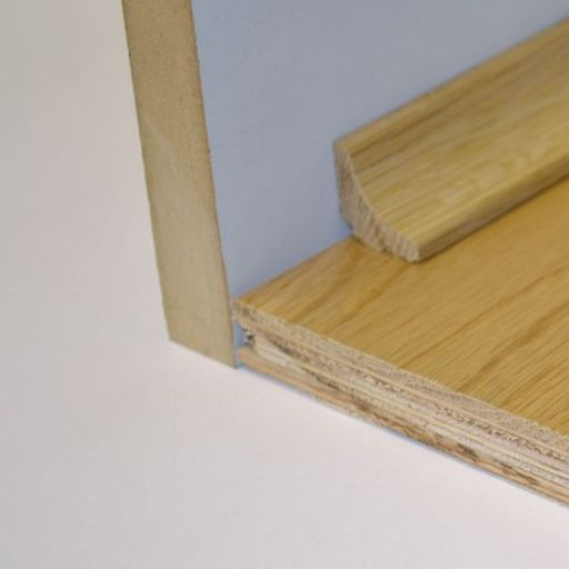 Unfinished Solid Oak Scotia Beading, 19x19 mm, 2.4 m