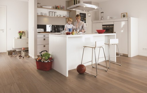 Boen Sand Oak Engineered Flooring, Brushed, Oiled, 209x3.5x14 mm